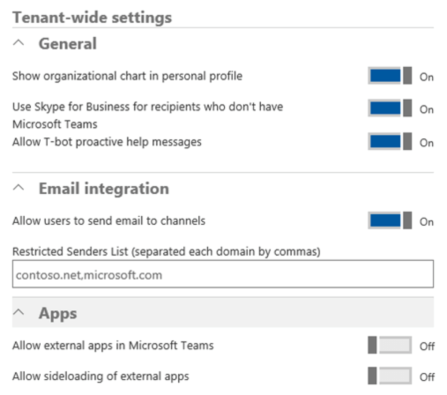 Microsoft Teams Konfiguration im Office 365 Tenant